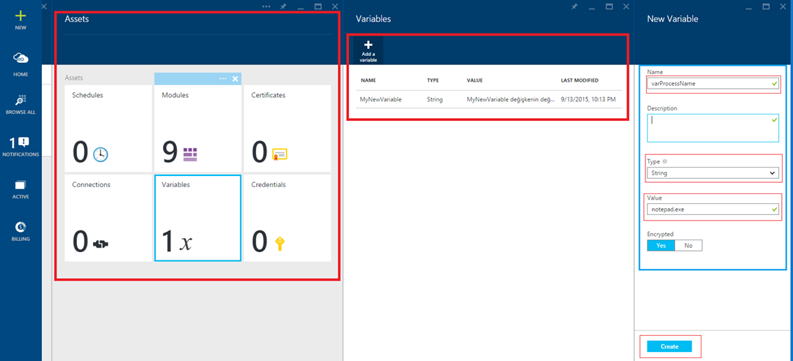 Azure Automation – Part 2:Assets