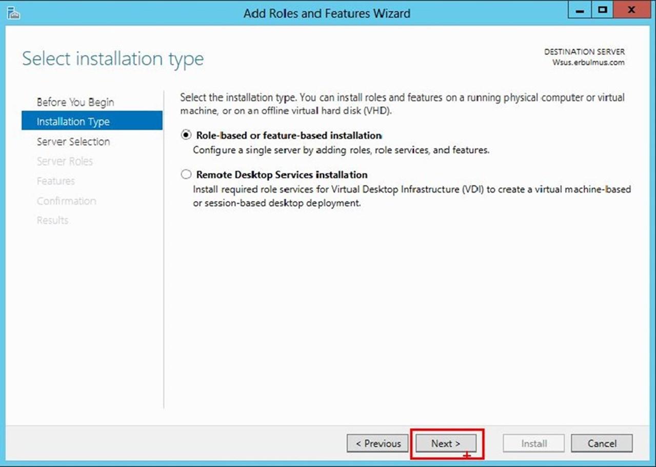 Windows Server 2012 WSUS Adım Adım Kurulum Ve Yapılandırma