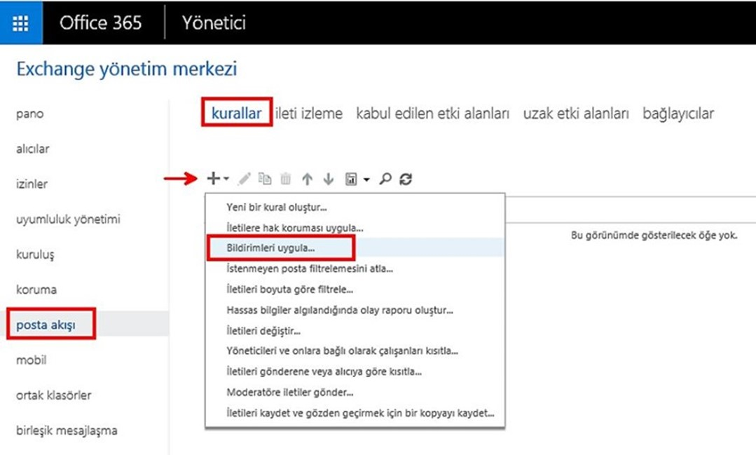 Office 365' e Disclaimer Nasıl Eklenir