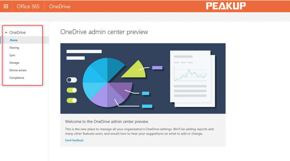 OneDrive Admin Center Preview