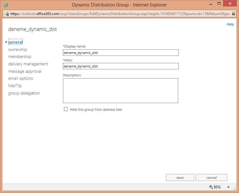 Office 365 Exchange Online Dynamic Distribution Group