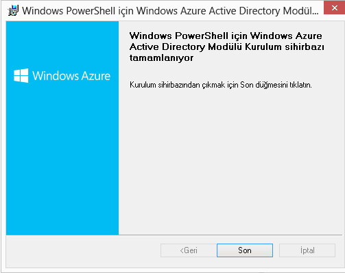 Windows Azure Active Directory Module for Windows Powershell-Part 1