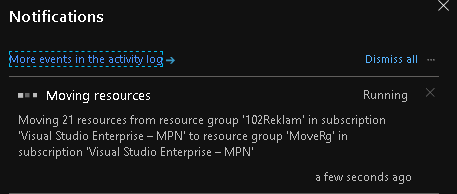 Resource Group Notifications